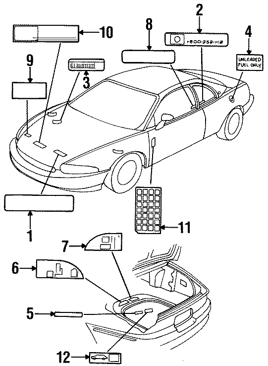 Buick Riviera Caution Label  Engine Decal  Info Label