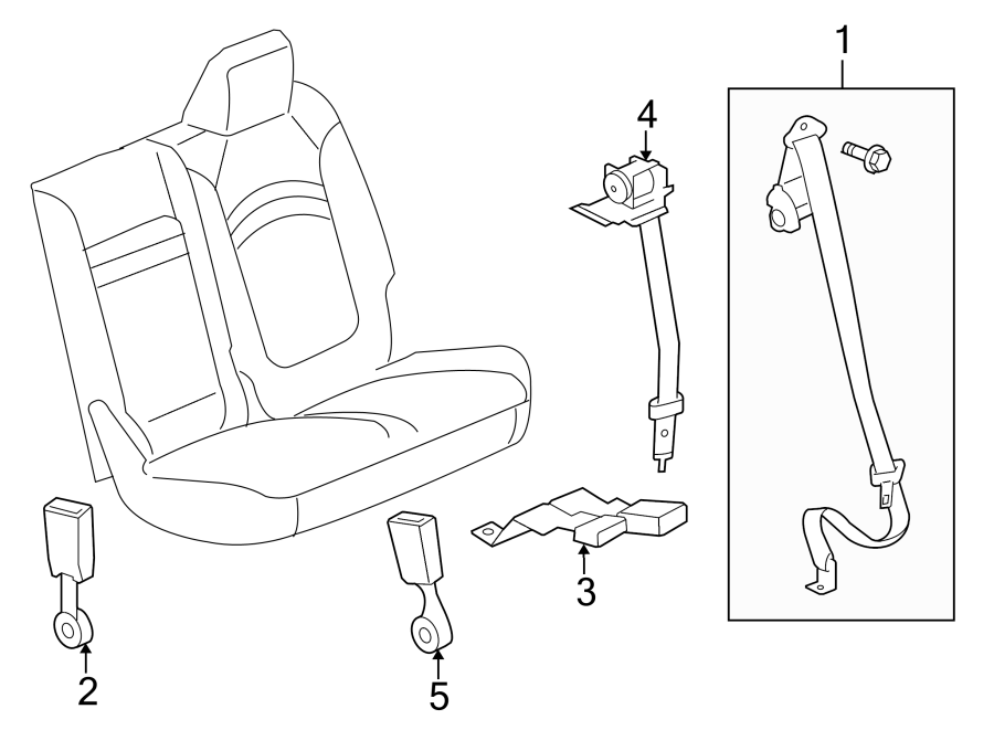 Buick Enclave Seat Belt Receptacle  Cocoa