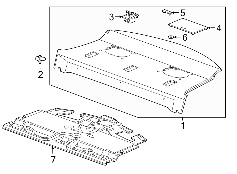 Buick Regal Sound Absorber  Lower   Package Tray