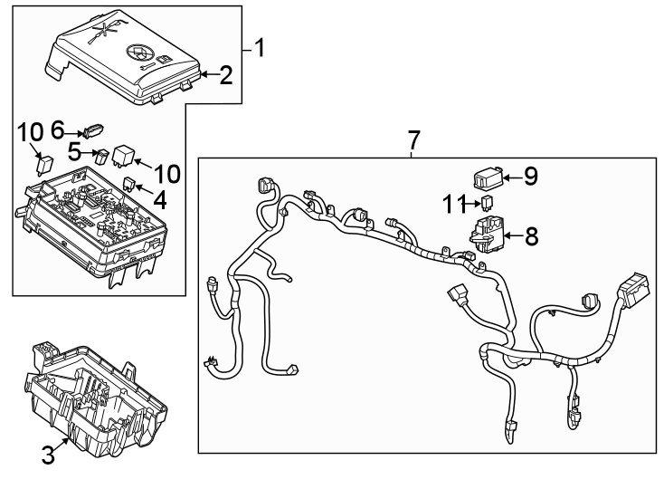 Buick Encore Body Wiring Harness  Engine Compartment  W  O