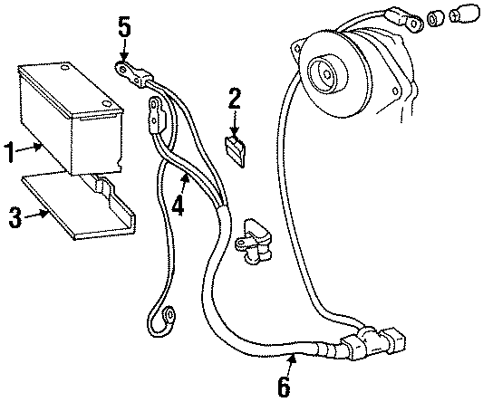 Cadillac Deville Battery Cable