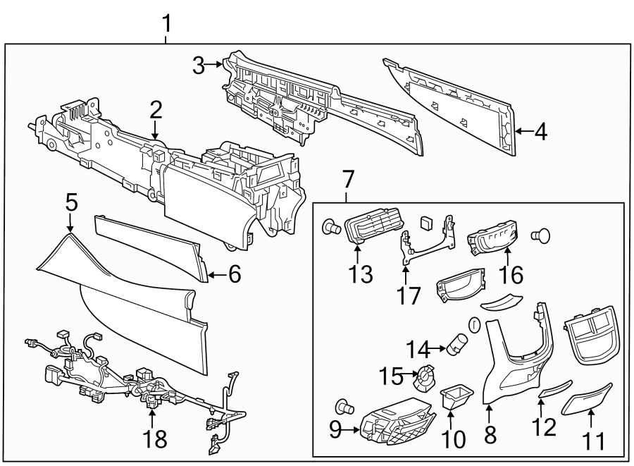 Cadillac Cts Console Panel  Lower Console Components