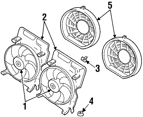 Cadillac Catera Fan. Motor - 9157173 | GM Parts Direct ...