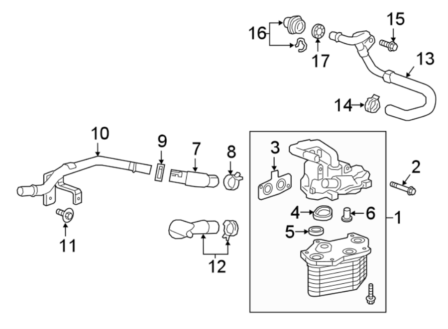 Cadillac Ct6 Engine  Pipe  Hose  Assembly