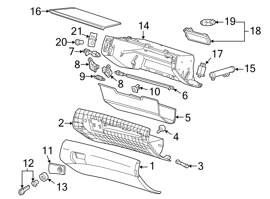 Chevrolet Caprice Release Rod  Included With  Glove Box