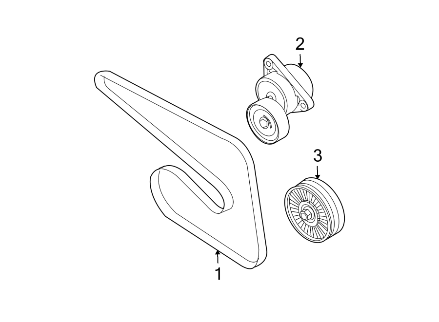 Chevrolet Aveo5 Accessory Drive Belt Tensioner Assembly