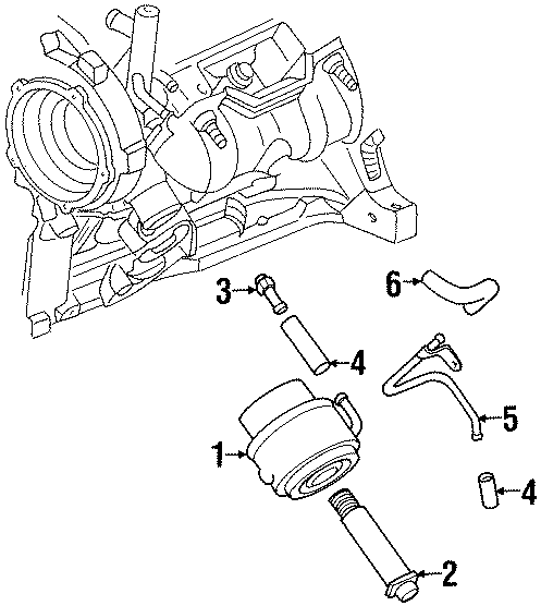 Chevrolet Lumina Engine Oil Cooler Line Connector  3 1