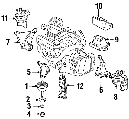 Oldsmobile Aurora Bracket  Mount  Transmission  1997