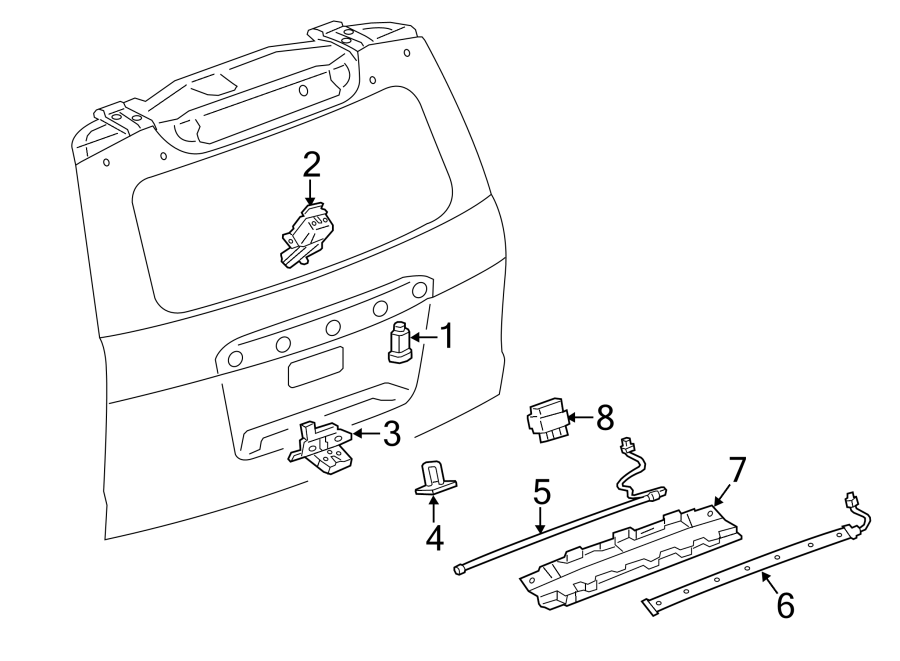 Chevrolet Tahoe Liftgate Release Switch