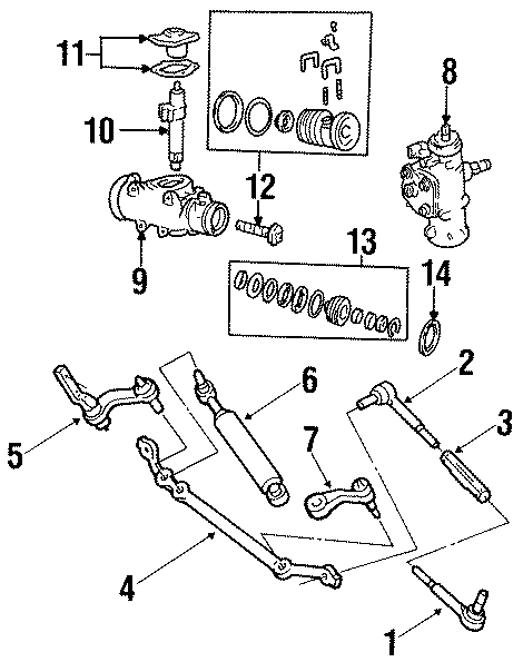 Chevrolet C1500 Rack And Pinion Rack Gear