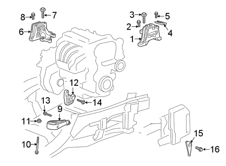 Chevrolet Equinox Automatic Transmission Mount  Engine  Replace  Bearings