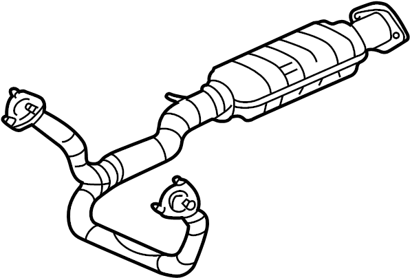 Chevrolet S10 Catalytic Converter (Front). Catalytic ...