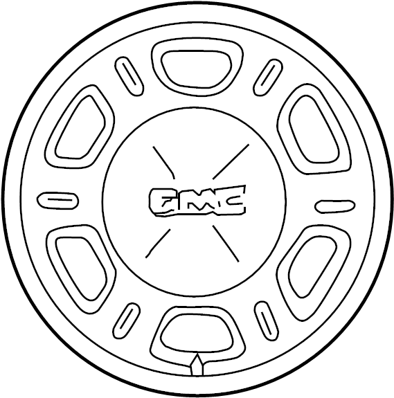 Chevrolet Tahoe Wheel. Stamped, JBF, Order - 9595757