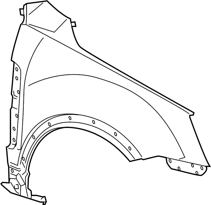 Saturn Vue Fender  Right  Components